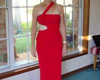 Ravishing Red Slender Long Dress