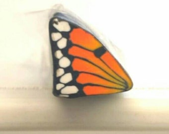 Monarch Butterfly Wing Cane, Polymer Clay Flutterby Wing Cane, Raw or Unbaked Clay, Orange