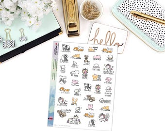 SNARK SERIES: Can't Even Sampler - Paper Planner Stickers - Mini Binder Sized/3 Hole Punched