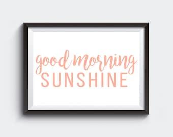 Good Morning Sunshine gallery wall art print digital download