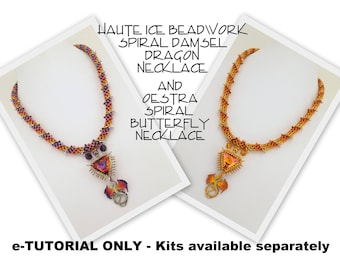eTUTORIAL ONLY for Spiral Dragon and Butterfly Necklace - Intermediate/Advanced Level