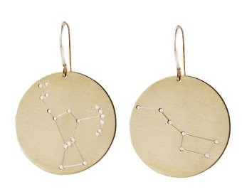 Constellation earrings, Big Dipper Orion, personalized astrology astronomy star jewelry
