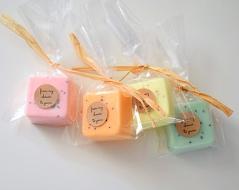 25 Wedding Favors- Soap Favors - Party Favors -Bridal Shower - Rustic Wedding - Custom Wedding Favors in your Wedding colors