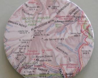 Mount Rainier Map Magnet