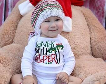 Santa's Little Helper Embroidered Bodysuit