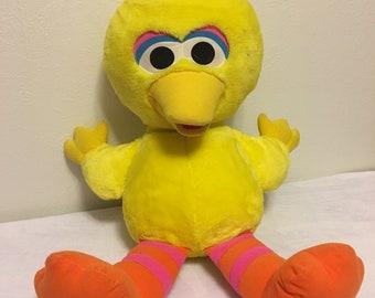 "LARGE Jim Henson Tyco Plush Big Bird 24"" Plush Stuffed Animal Toy Sesame Street 1996"
