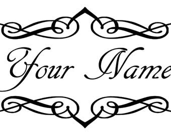 Personalized Family Name Vinyl Wall Decal, Family Sign, Family Name Sign