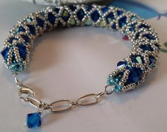 Caprice -  Blue Netted Bracelet - 072014