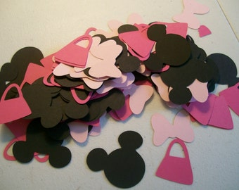 Minnie Mouse Party Confetti- Minnie Mouse Confetti- Minnie Mouse Birthday Party
