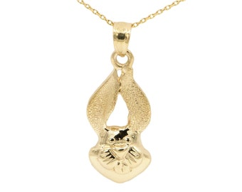 10k Yellow Gold Rabbit Necklace