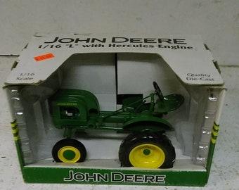 John Deere L toy tractor