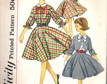 Vintage  1963 Simplicity 4631 Girl's Skirt, Blouse & Jacket Sewing Pattern Size 8 Breast 26""