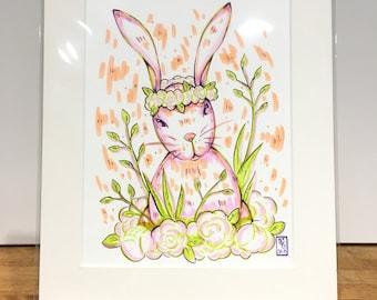 Spring Rabbit original art piece