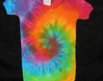 6 mos Over the Rainbow Tye Dye One Piece Romper