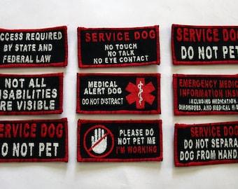 Custom Service Dog Patch