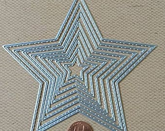 Stitched Star Dies 8pc Nested