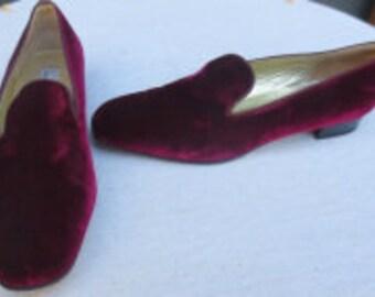9 1/2B SAKS FIFTH AVENUE Velvet Shoes FH004