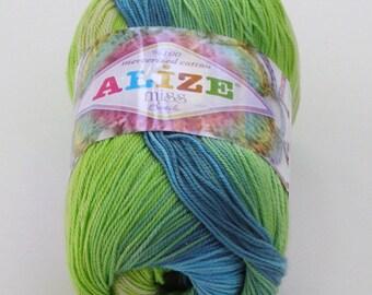 Alize Miss Batik crochet thread size 10, 100% mercerized cotton, #3724