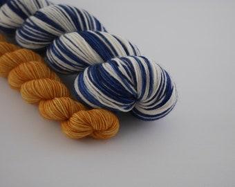 LOVE SOCK self-striping, Plouf & Winnie, merino nylon sock yarn,100g