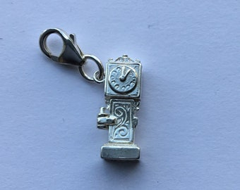 Solid Silver Grandfather Clock Charm
