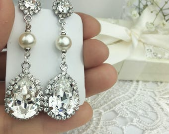 Swarovski Pearl earrings. Variety of styles. Choose your style and color