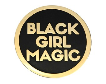 Black Girl Magic Lapel Pin - GOLD