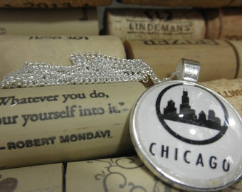 Downtown Chicago Jewelry, Downtown Chicago Necklace, Downtown Chicago, Chicago Jewlery, Chicago Pride,
