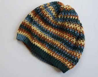 Granite Stitch Hat - Pure Cotton Crochet Beanie Hat - Ready to Ship