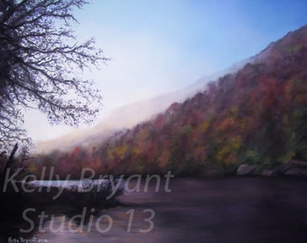 Gauley River, Giclee print of original pastel painting