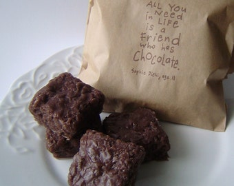 Mini Brownie Bites Soap - Dark Chocolate scented - Glycerin Soap Set  - Novelty Soap  - Gag - For Her or Him - fake food - shaped soap