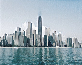 The City by the Lake Print - Chicago Skyline
