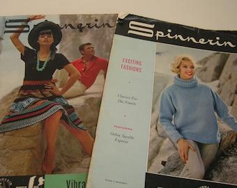 Spinnerin Vintage High Fashion Knitting Magazines