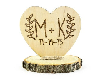 Personalized Rustic Cake Topper - 104126