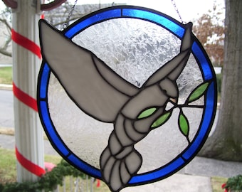 Stained Glass Dove of Peace Sun catcher