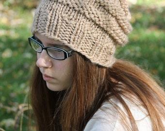 Knitting PATTERN - Knit Hat Pattern - Slouchy Hat Pattern - Beehive Hat - Knitting Pattern for Women - Toddler, Child, Adult Sizes - PDF 242