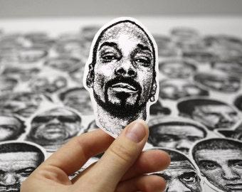 Scribbled Snoop Dogg - Vinyl Sticker