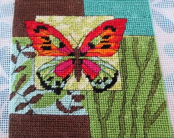 Butterfly needlepoint square