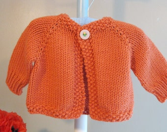 MELANIE'S CARDIGAN......knitting pattern for a baby sweater