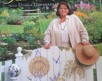 "Decorative used painting 2002 book ""Painting Garden Decor Donna Dewberry""  145 pages good condition"