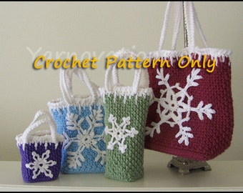 Snowflake Ornaments (and Gift Bags) Crochet Pattern