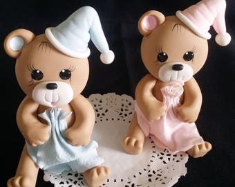 Teddy Bear Cake Topper, Blue Bear Baby Shower, Bear Cake Topper, Boys Baby Shower, Blue Bear Cake Topper, Girly Bear Baby Shower, Bears