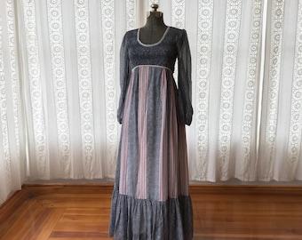 Candi Jones maxi dress // Prairie dress // 70s floral maxi dress