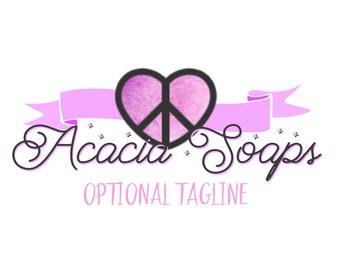 Premade Logo, Logo Design, OOAK Logo, Peace Love Logo, Purple Logo, Logo, Logos, Only One, Diverse Logo, Modern Logo, 2 color Logo, Banner
