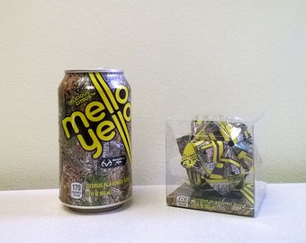 Mello Yello Realtree Camo Edition Can Origami Ornament.  Upcycled Recycled Repurposed Art