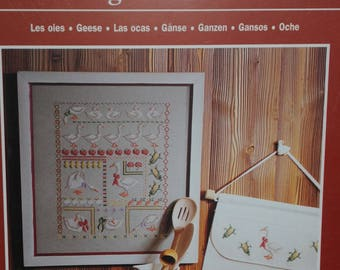 """the """"geese"""" cross stitch Embroidery pattern"""