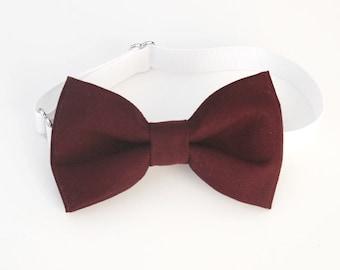 Deep Burgundy bow-tie - baby bow tie - boy bow tie - adult bow tie - dark wine bow tie - adjustable bow tie