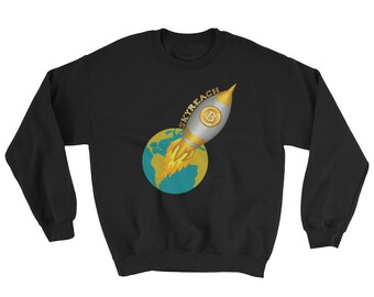 Bitcoin Space Ship Skyreach To the Moon Sweatshirt