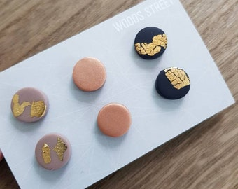 Polymer Clay Mini Studs #10
