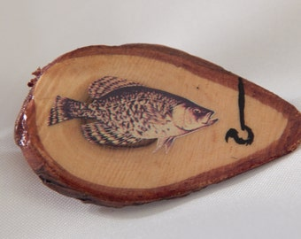 Fish with Hook - Studio Button by Joyce Black 1994