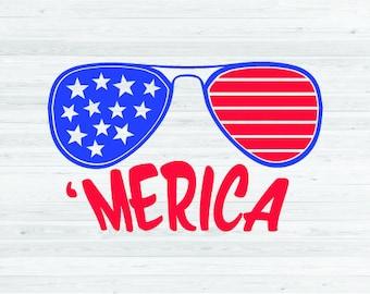 Merica SVG Cut File - Fourth of July SVG